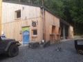 Das Besucherbergwerk Barbara-Hoffnung nach dem Umbau 2013. Neben dem Informationszentrum beherbergt es auch ein Bistro mit großzügigem Außenbereich. Foto: Nicola Dülk7