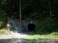 Das Mundloch der Grube Barbara dient heute als Ausgang der Grube Barbara-Hoffnung. Beide Gruben wurden zusammengelegt, um die Sicherheitsvorschriften für das Besucherbergwerk zu erfüllen. Foto: Besucherbergwerk Fell