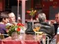 Die Außenterasse des Bistro WeinStein läd zu gemütlichen Stunden in freier Natur ein.Foto: Besucherbergwerk Fell