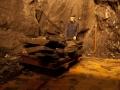 Auf der Wanderung durch den Berg ist auch dieser große Förderwagen zu sehen.Foto: Besucherbergwerk Fell