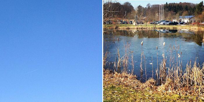 Blauer Himmel über dem Umwelt-Camppus in Bielefeld, wo Helene Neufeld zur Zeit Medieninformatik studiert.