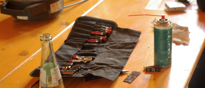 Alle freiwilligen Helfer brachten Werkzeuge und Materialien aus ihrem eigenen Fundus mit.