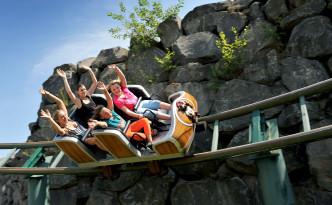 """Achterbahn """"Heiße Fahrt"""" im Wild- und Freizeitpark Klotten"""